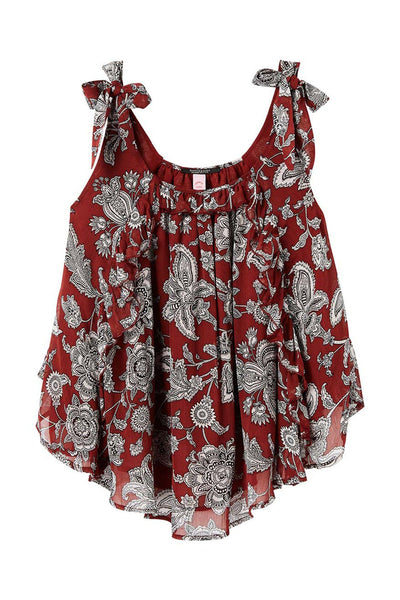 Printed Tank Top | FINAL SALE Tops Maison Scotch