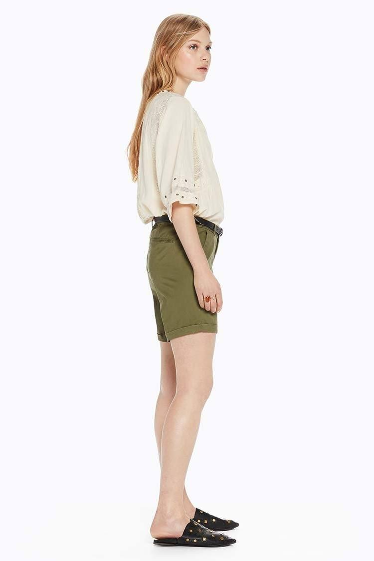 Longer Length Medium Weight Shorts in Army | FINAL SALE