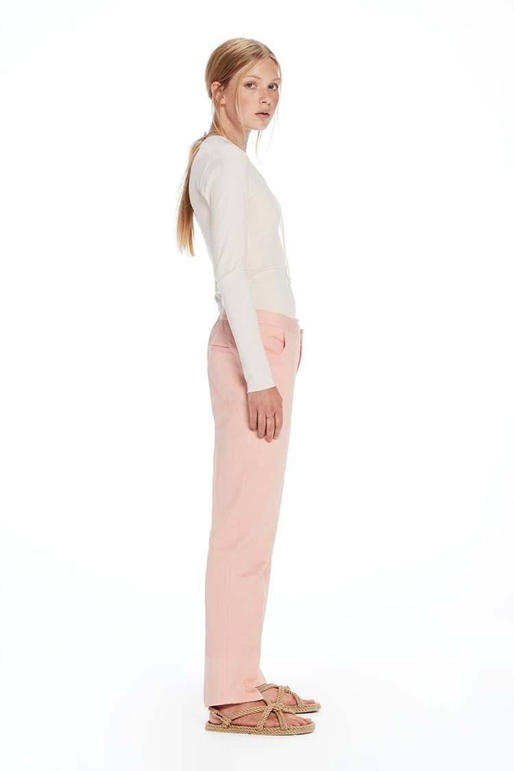 Tapered Leg Tailored Pants in Blush