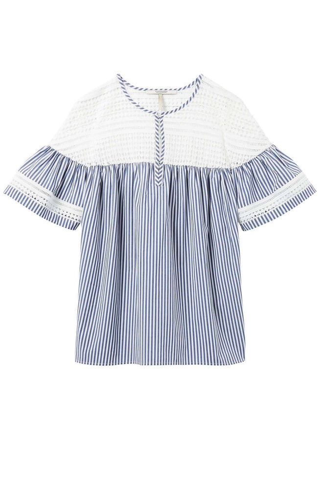 Short Sleeve Striped Top in Combo S | FINAL SALE