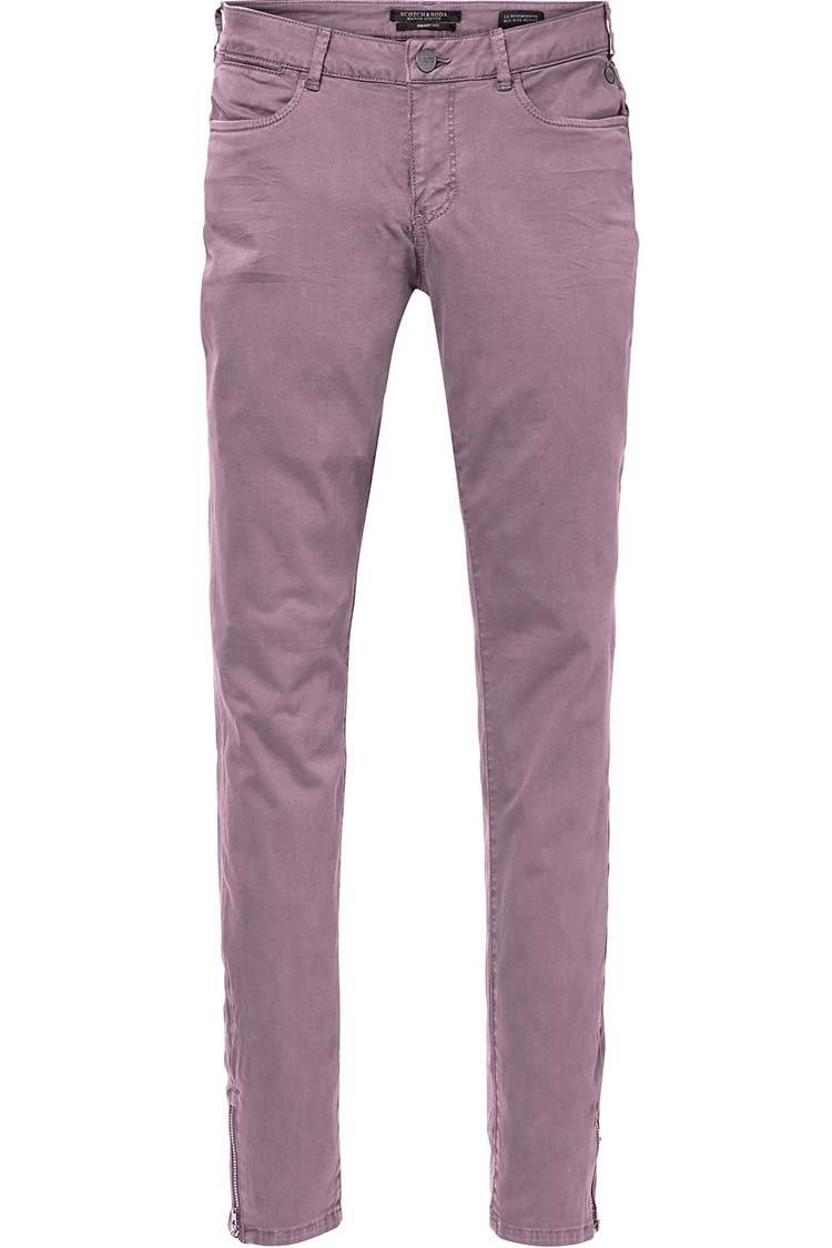 La Bohemienne' Skinny Fit Pants in Petal | FINAL SALE