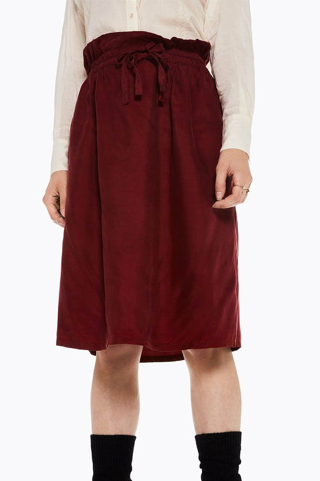 Cupro Skirt With Tie Detail
