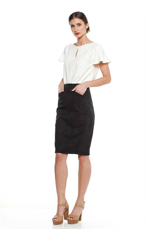 The Ricardo Faux Sueden Skirt by Sacha Drake