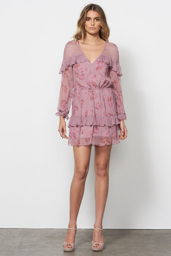 Shop Online Wild Rose L/S Mini Dress by Stevie May  Frockaholics Dresses
