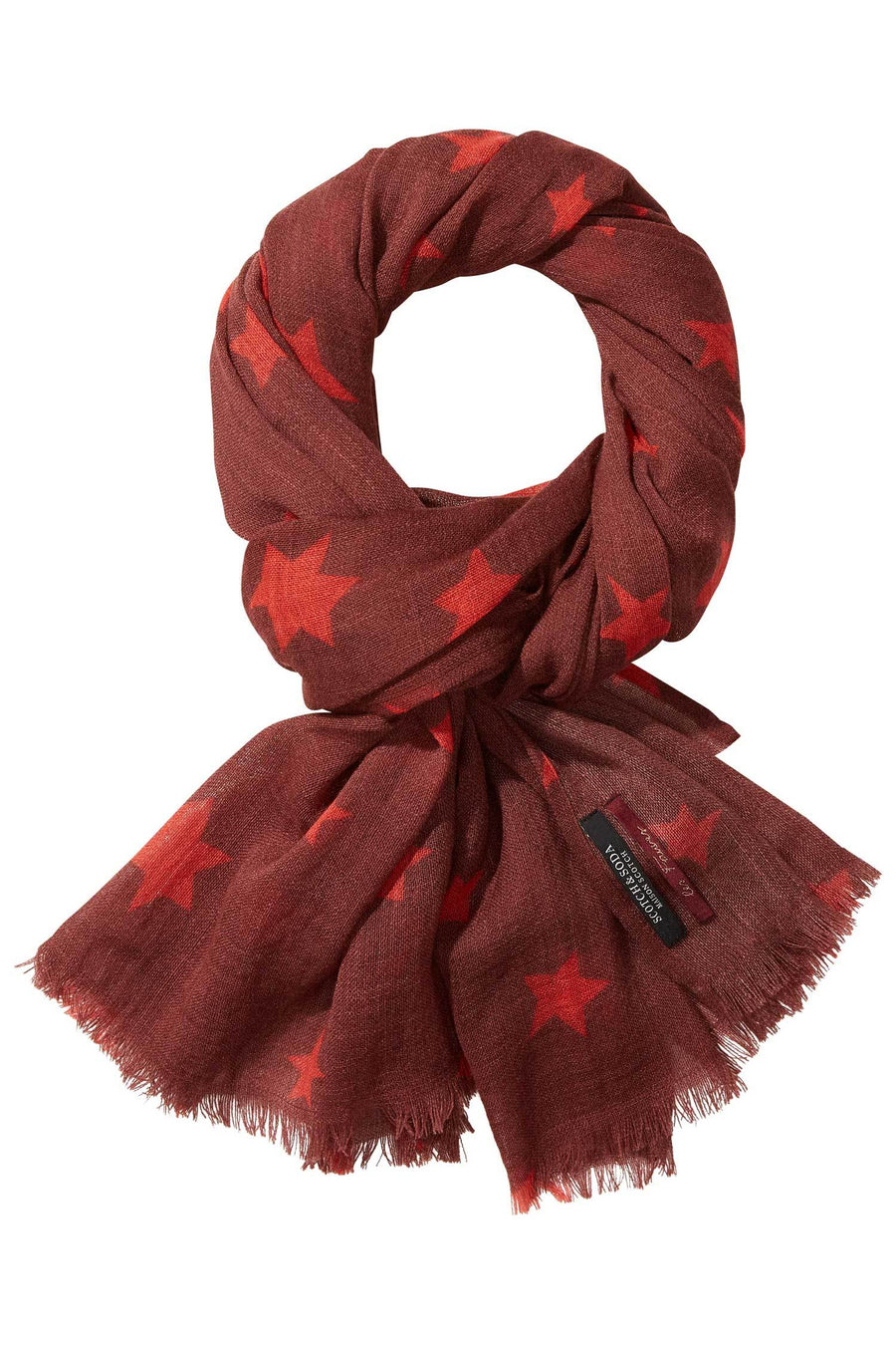 Shop Online Star Printed Wool Scarf by Maison Scotch  Frockaholics Accessories