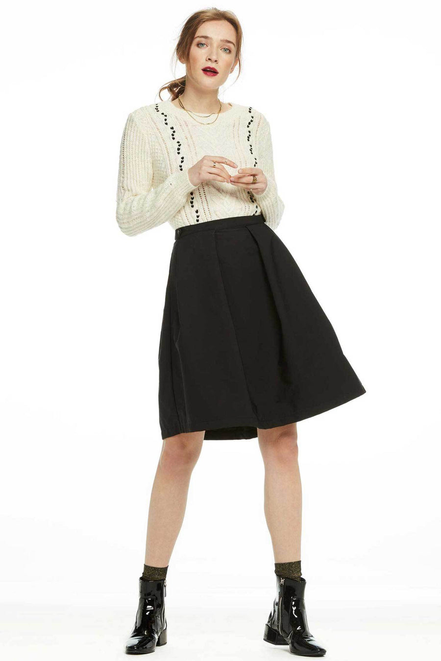 Shop Online Technical Pleated Skirt by Maison Scotch  Frockaholics Bottoms