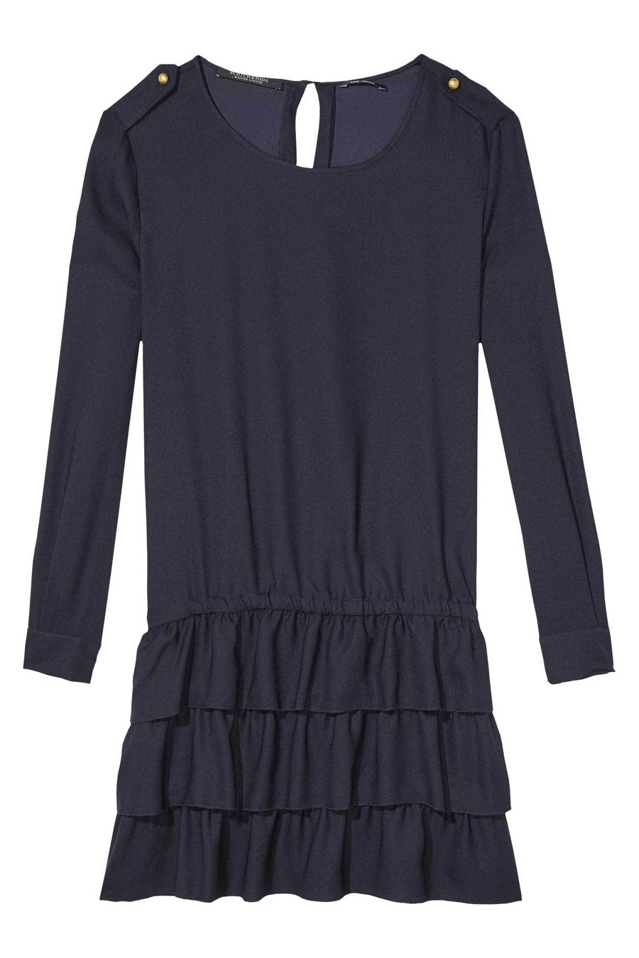 Shop Online Ruffled Drop Waist Dress by Maison Scotch  Frockaholics Dresses