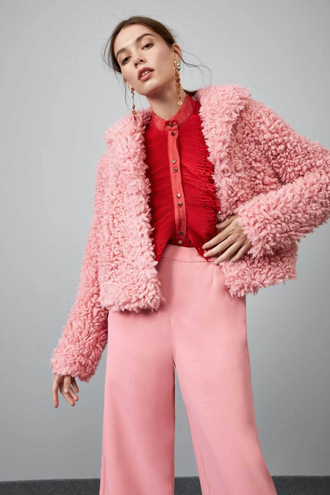 Shop Online Lionheart Cropped Coat in Peony by Keepsake  Frockaholics Jackets & Outerwear