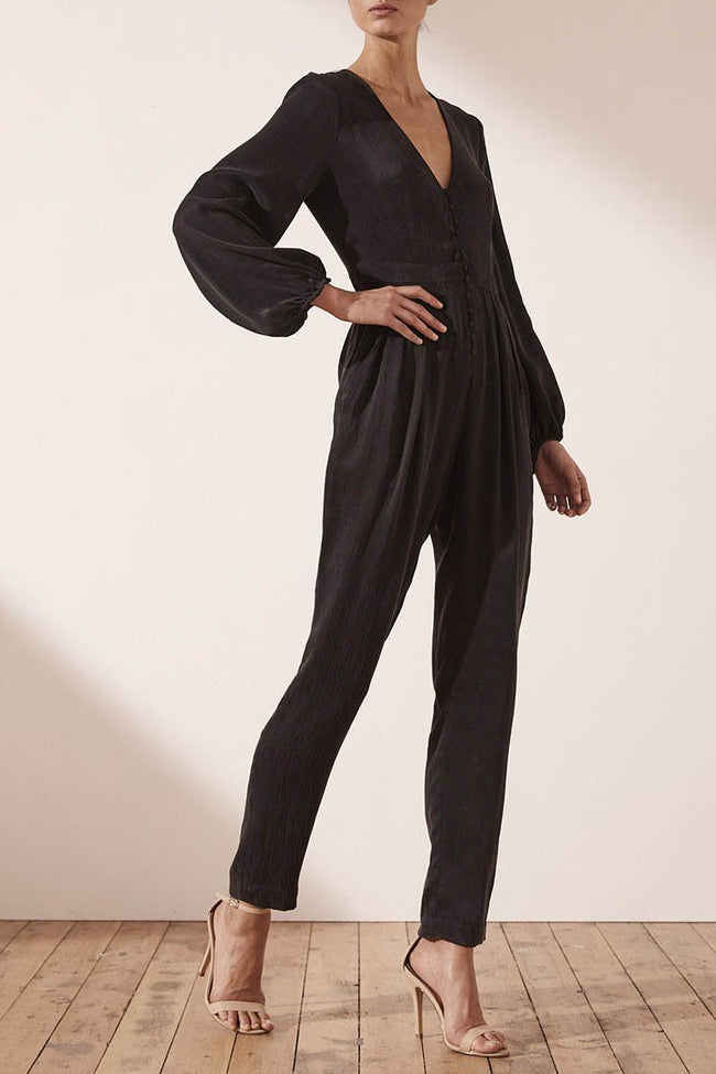 Matias Fitted Tuxedo Jumpsuit | FINAL SALE