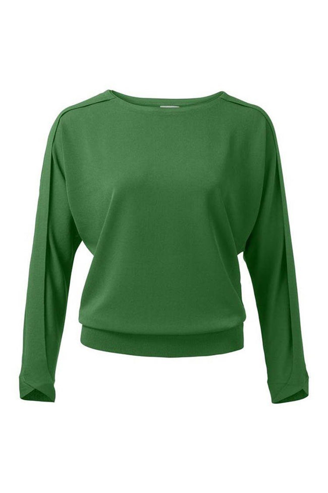 Short Sweater Batwing in Bottle Green
