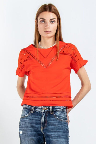 Cotton Top in Poppy Red | FINAL SALE Tops Maison Scotch