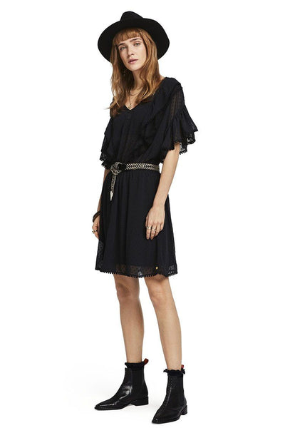 Ruffled Pom-Pom Dress | FINAL SALE Dresses Maison Scotch