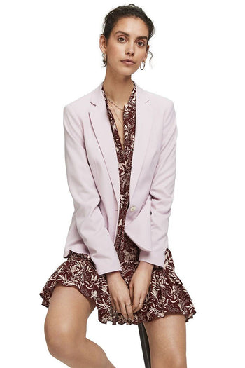 Classic Tailored Blazer in Lilac