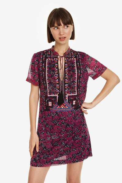 Rita Purple Floral Dress | FINAL SALE Dresses Desigual