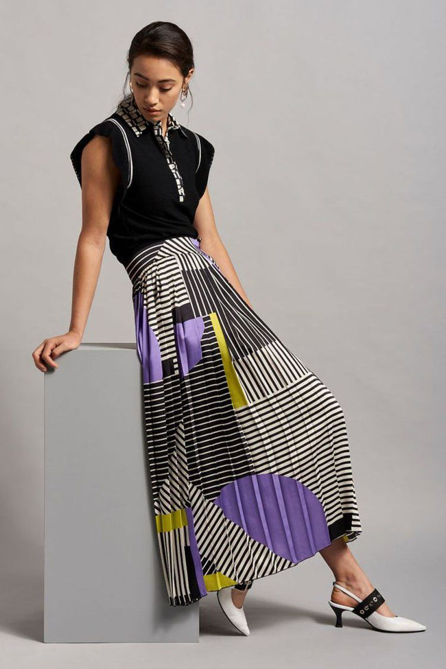 Asymmetric Mid-Length Skirt