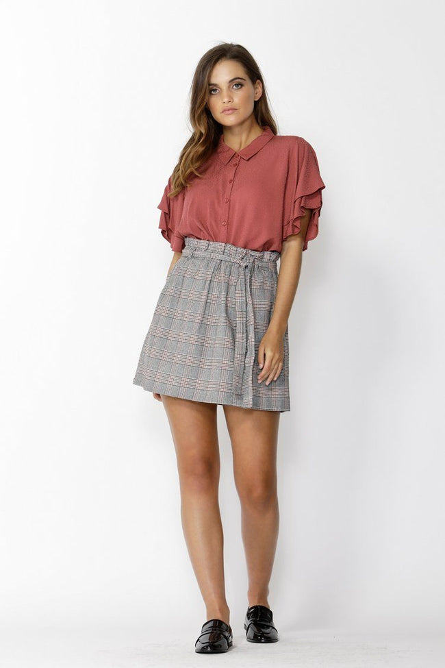 Sensation Ruffle Sleeve Shirt