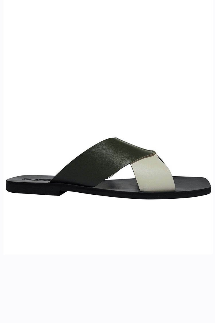 Julian Slide in Khaki | FINAL SALE