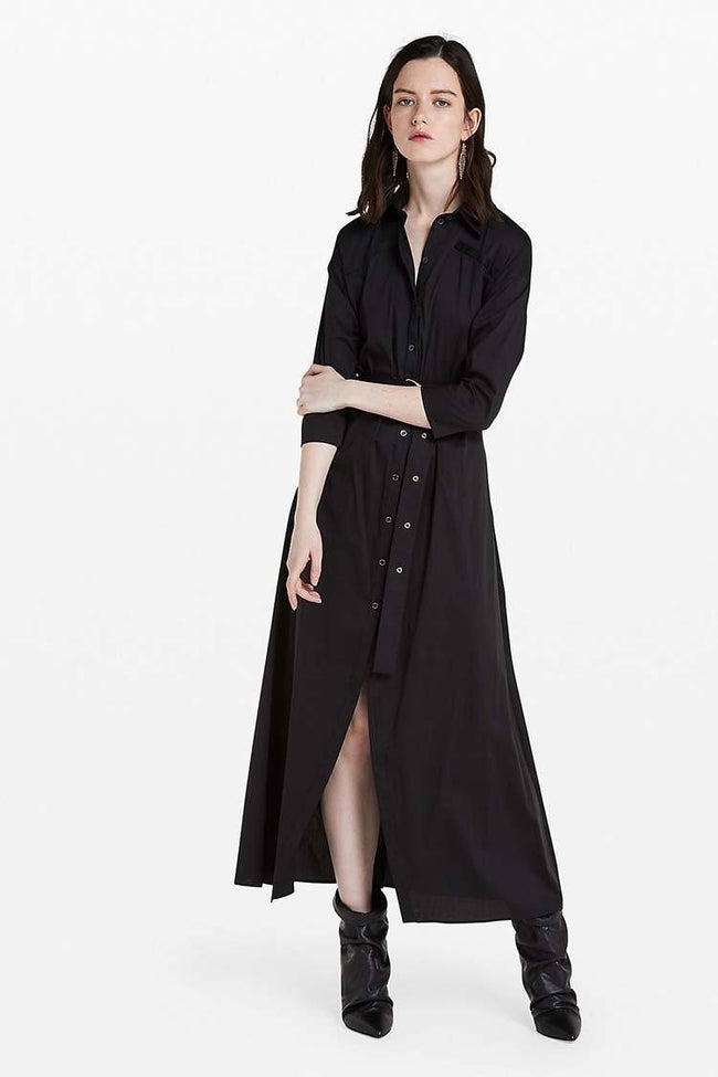 Shirt Dress in Nero