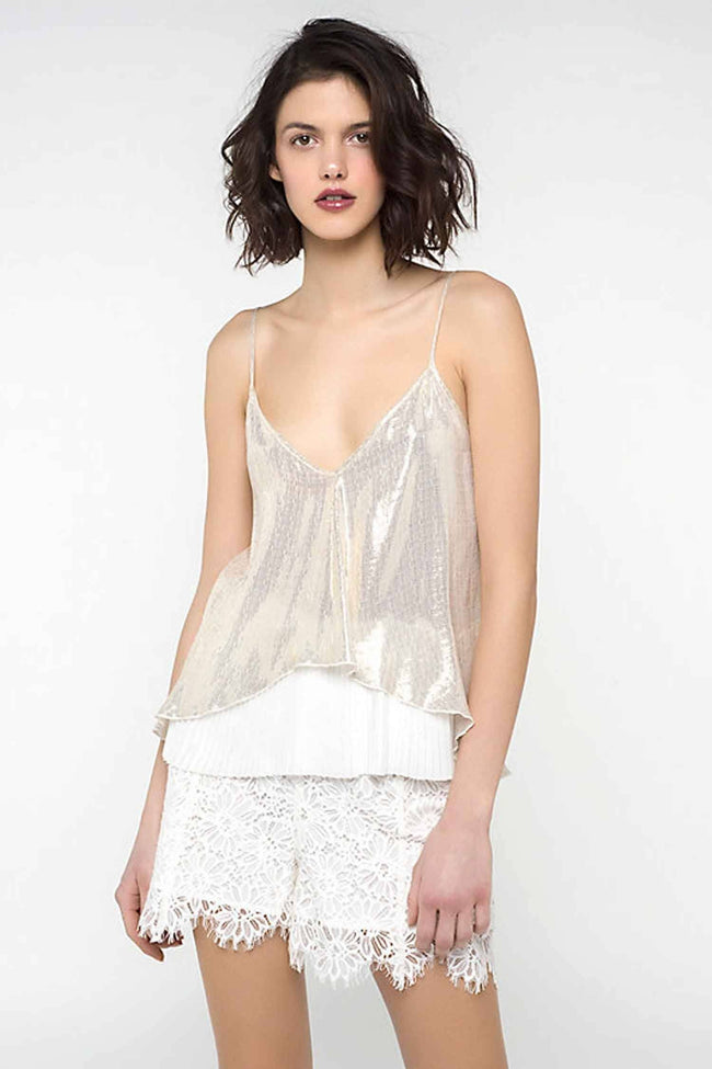 Lurex and Silk Top