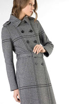 Trench Coat In Heavy Cotton and Wool Blend Jersey