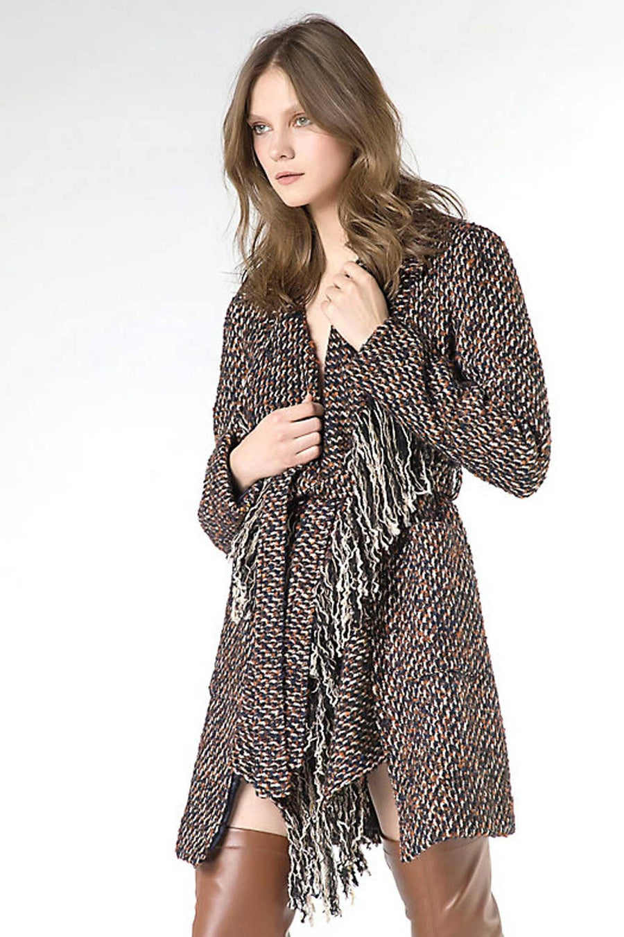 Desconstructed Coat in Textured Fabric