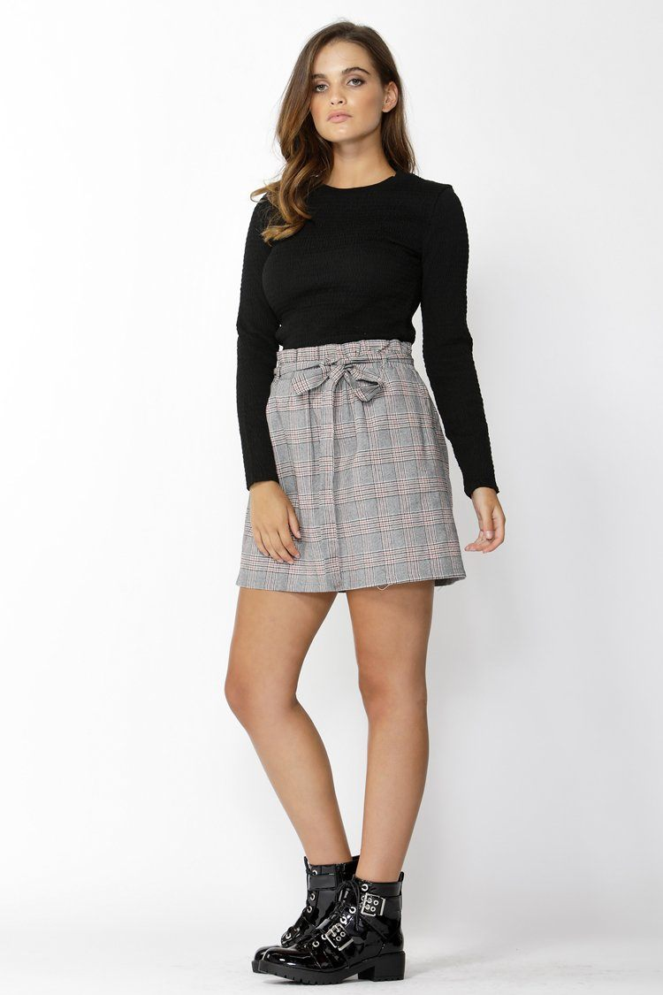 Exploration Check Mini Skirt