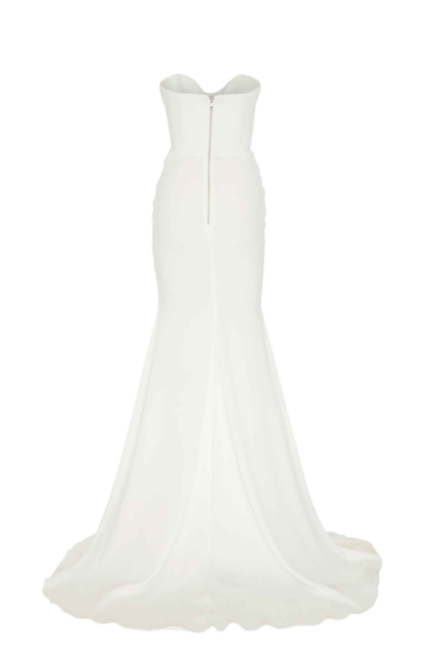 Sloane Satin Crepe Sweetheart Ruched Gown by Alex Perry Frockaholics.com