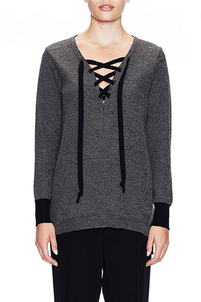 The Tie Neck Rib Jumper by Sabatini