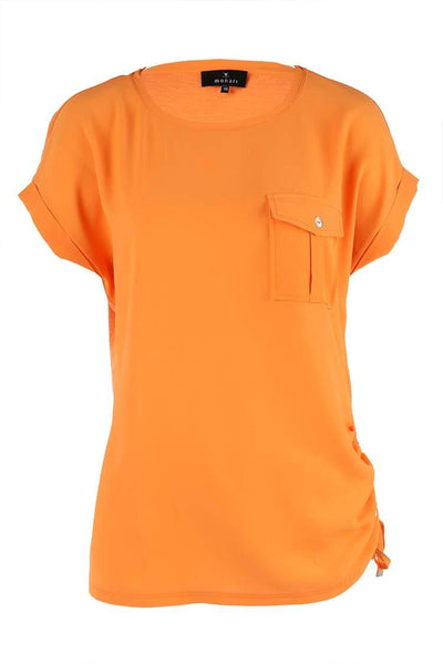 Monari Shirt w Pocket in Orange Tops Monari