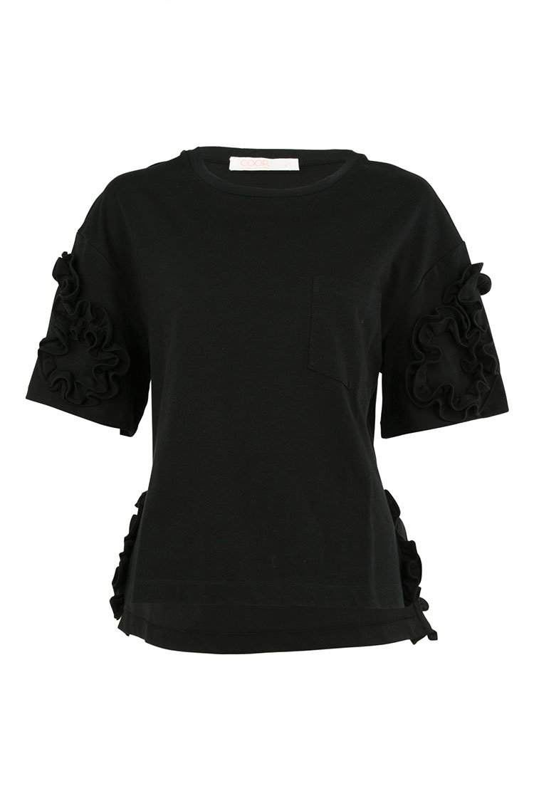 Curly Wurly Top in Black | FINAL SALE