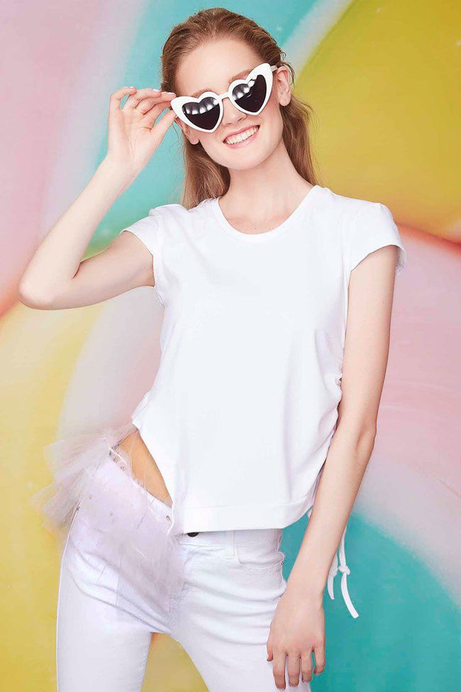 Side Frills T-shirt