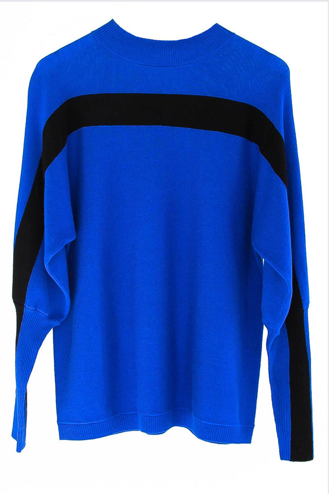 Shop Online Rimini Tunic in Cobalt and Black by Lounge  Frockaholics Tops
