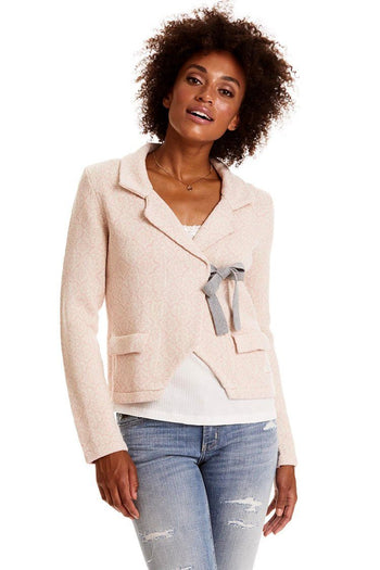Lovely Knit Jacket in Pink
