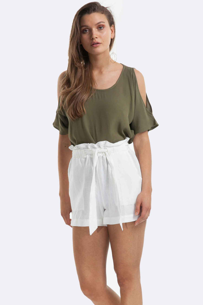 Artemis Top in Khaki