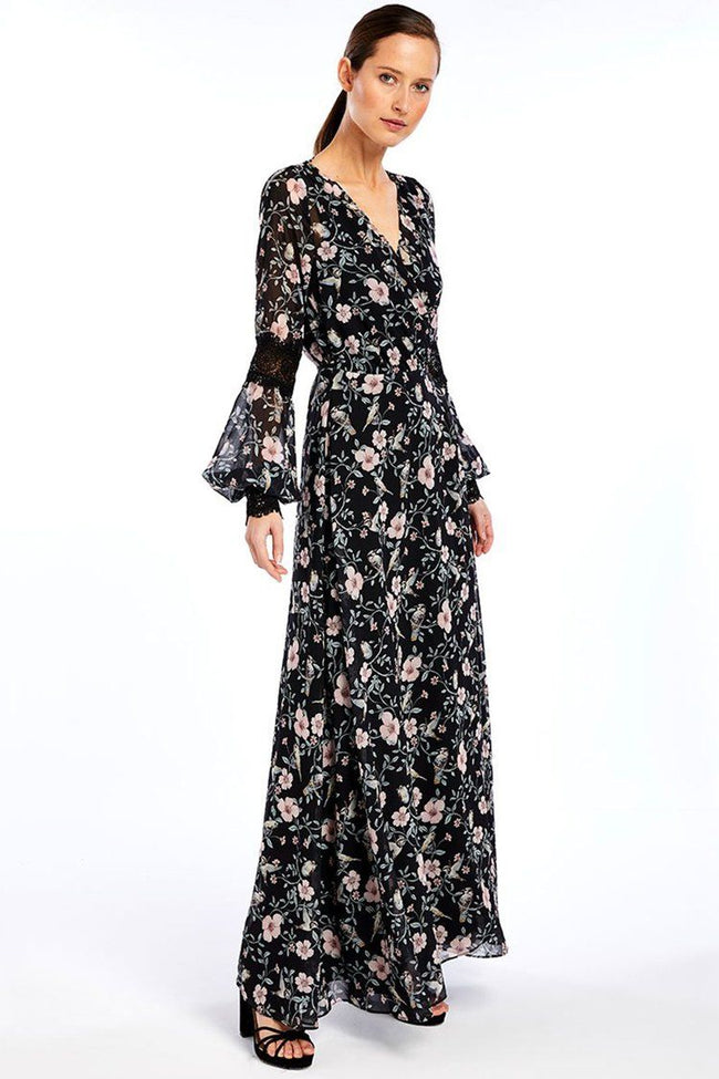Nellie Silk Wrap Dress