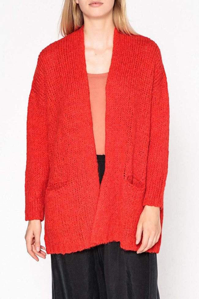 Boolder Cardigan in Poppy