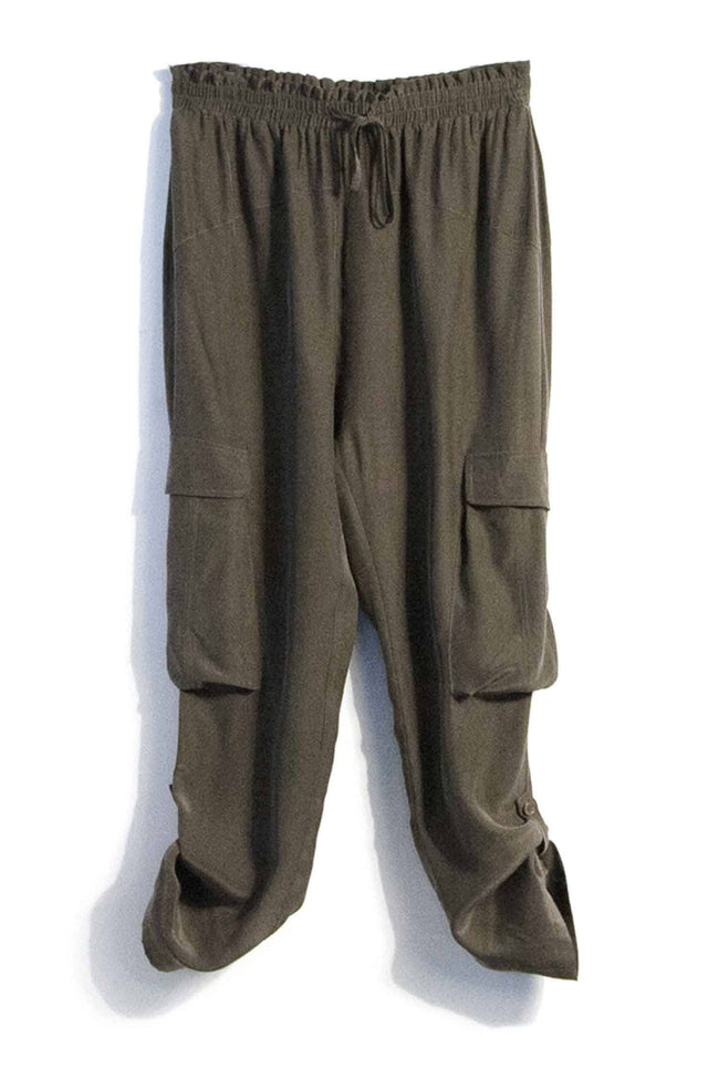 Shop Online Sicily Pant in Khaki | FINAL SALE by Lounge  Frockaholics Bottoms