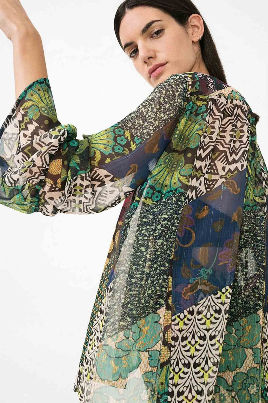 Verde Long Sleeve Blouse by Desigual Frockaholics.com