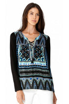 Iole Lace Up Silk Tunic by Hale Bob Frockaholics.com