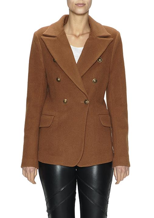 Notched Collar Blazer in Camel