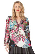 Amberly Silk Burnout Tunic