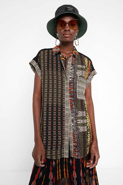 African Frieze SL Shirt Tops Desigual