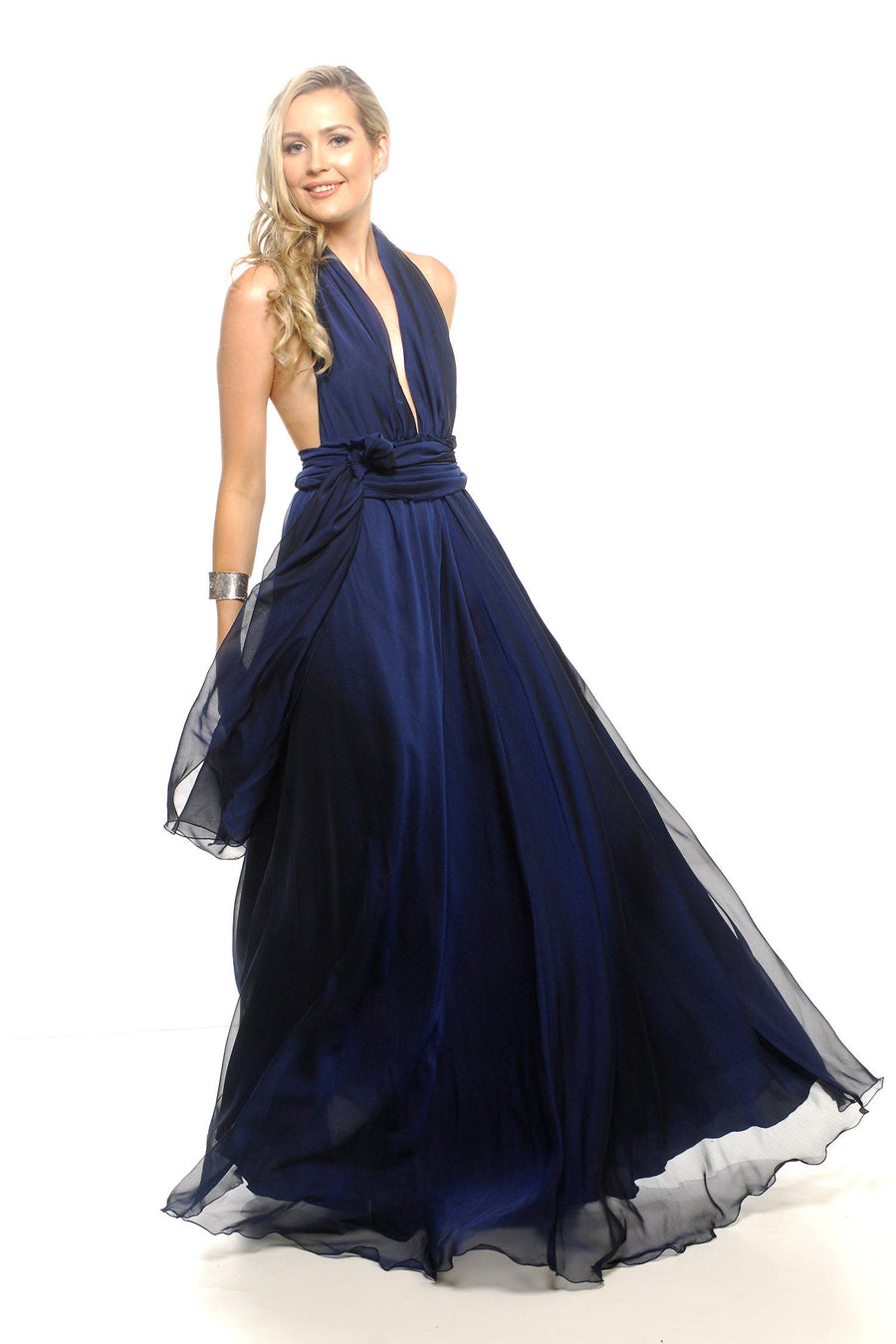 Alida Gown in Midnight | Chiffon
