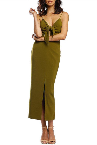 Allegory Midi Dress in Olive Dresses Pasduchas