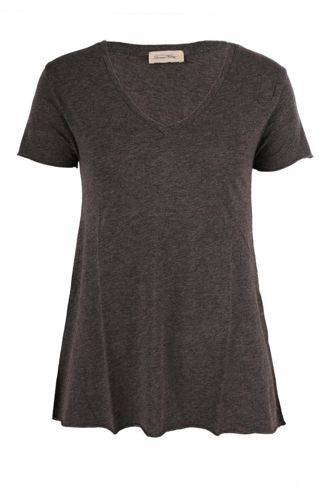 Jacksonville Short Sleeve Tee in Charcoal by American Vintage Frockaholics.com