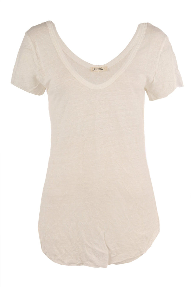 Nilibay Oversized Linen Tee in Pearl