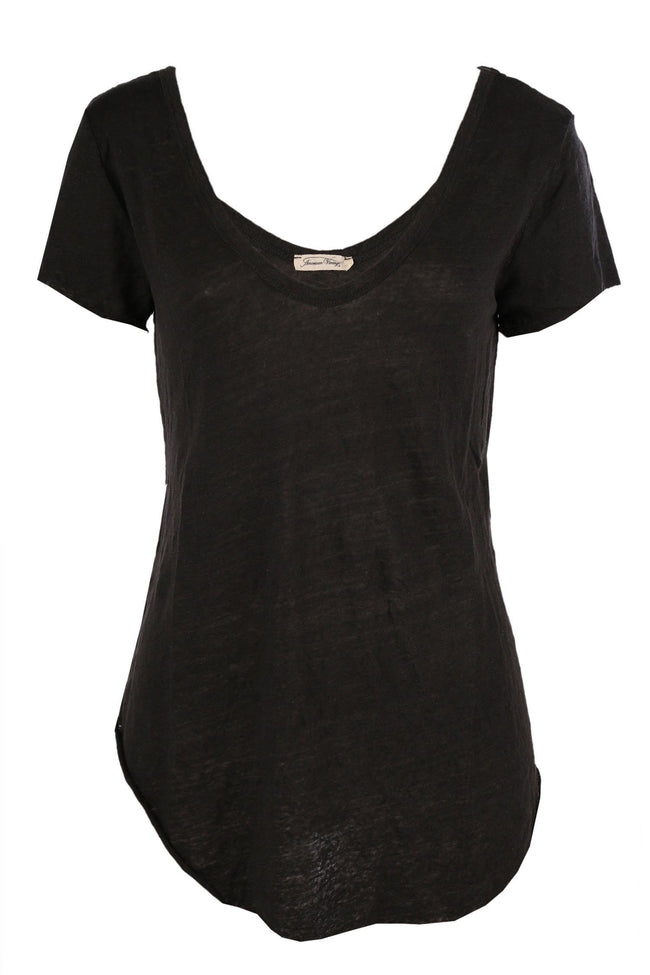 Nilibay Oversized Linen Tee in Carbon