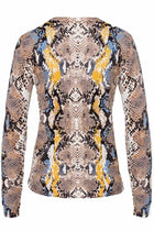 Anne Cardigan in Snake Print