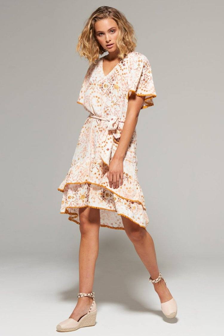 Anvi Print Mini Dress