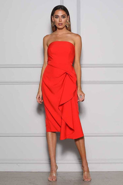 Arell Dress in Blood Orange Dresses Elle Zeitoune